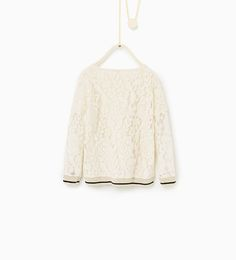 Image 2 of Blonde lace ribbed top from Zara