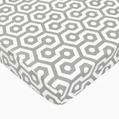 Percale Fitted Mini Crib Sheet in Gray Honey Comb | Nebraska Furniture Mart