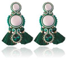 #Soutache #earrings, Soutache #jewerly, #handmade jewerly, #bijoux, #orecchini, #pendientes #fashion #design #madeinitaly #swaroski - EVE EARRINGS