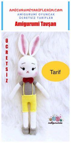 Amigurumi Cute Rabbit Making - Meine Amigurumi-Rezepte - Amigurumi Tavşan Bear Dog Breed, Teddy Bear Dog, Cute Teddy Bears, Crochet Bunny, Crochet For Kids, Crochet Animals, Crochet Dolls, Kittens And Puppies, Baby Puppies