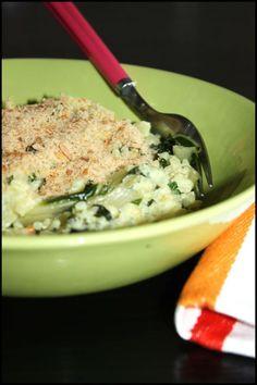Risotto crémeux aux blettes et au parmesan