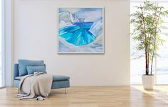 Large Seascape Painting Purbeck Dorset Gift For Him Gift Canvas Painting Landscape, Seascape Paintings, Oil Painting On Canvas, Next Door, Contemporary, Modern, Gifts For Him, Tapestry, Fine Art
