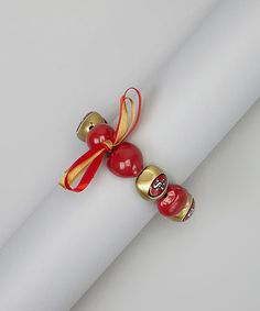 San Francisco 49ers Kukui Nut Bracelet #zulily #zulilyfinds