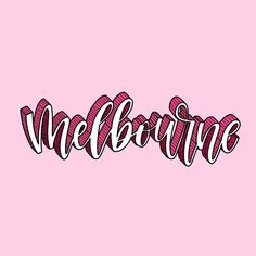 Pink! . . . . #melbourne #thatsmelbourne #procreate #ipadlettering #lettering #moderncalligraphy #handdrawntype #handlettering Hand Drawn Type, Modern Calligraphy, Hand Lettering, Melbourne, Ipad, Neon Signs, Instagram, Handwriting, Calligraphy