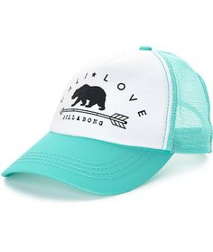 Step out into the hot sun with this classic Billabong trucker hat and show  your love c1d2e828b85f