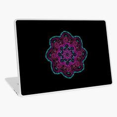 'Mandala' Laptop Skin by Salhj Free Stickers, Macbook Air 13, Laptop Skin, Iphone Wallet, Vinyl Decals, Vibrant Colors, Mandala, My Arts, Art Prints