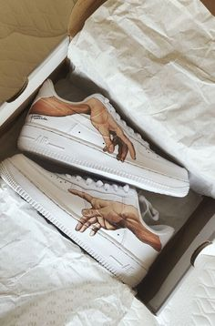 painted shoes emillyyhall - painted nike air force 1 Source by berniceullrich - Custom Painted Shoes, Custom Shoes, Customised Shoes, Nike Custom, Custom Af1, Hand Painted Shoes, Sneakers Fashion, Fashion Shoes, Fashion Fashion