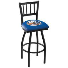 "New York Islanders 30"" Wrinkle Swivel Bar Stool with Jailhouse Style Back - $199.00"