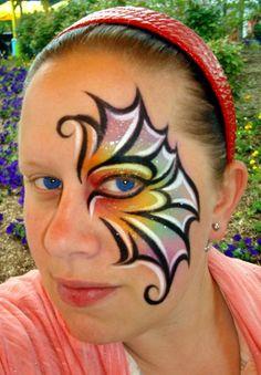 Rainbow Aqua Glitter (Face Painting) by Catherine Pannulla