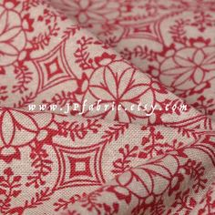 Bohemian Fabric. Linen fabric. Red Floral Fabric. Quilt fabric. Red White Fabric. JP100013 by JPfabric on Etsy https://www.etsy.com/listing/237251186/bohemian-fabric-linen-fabric-red-floral