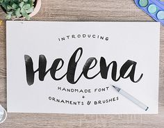 Helena is my new typeface with tons of stuffs for you