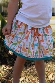 Seamingly Smitten: TUTORIAL: Bias Tape Trimmed Skirt Tutorial