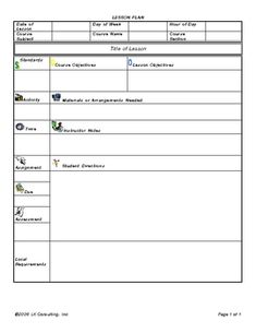 Literacy Lesson Plan Template Like The Layout Change Skills For