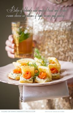 Salmon canapes.