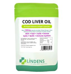 £5.23 GBP - Cod Liver Oil 1000Mg, 90 Capsules Lindens Apothecary, #ebay #Fashion