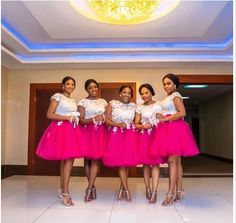 Hot Pink Tulle Short Sleeves White Lace Top Short Bridesmaid Dresses 2016 Maid Of Honor Prom Evening Gowns Wedding Guest Dresses African Bridesmaid Dresses, Bridesmaid Dresses Plus Size, Bridal Dresses, Bridesmaid Gowns, Wedding Gowns, Bridesmaids, Tutu, Pretty Dresses, Marie