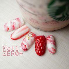 Kawaii Nail Art, Cute Nail Art, Cute Acrylic Nails, Cute Nails, Pretty Nails, My Nails, Japan Nail Art, Fruit Nail Art, New Years Nail Art