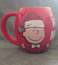 Peanuts Charlie Brown & Snoopy Mug. Charlie Brown wears a Santa hat and jacket & Snoopy wears a Santa hat and beard and rings a bell. I'm clearing out my mug collection. This mug was only displayed. | eBay!