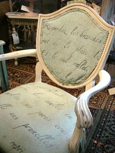 Chair fabric painted with Chalk Paint™