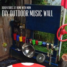Adventures at home with Mum: Outdoor Music Wall