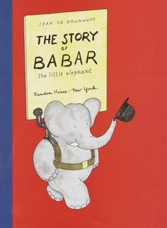 The first (of many) story of Babar, the little orphan who becomes King of the Elephants. I love how in the earlier books, the writing is Jean De Brunhoff's script so you are reading cursive.