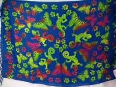 butterfly gecko blue sarong green red pink wholesale fashion clothing $5.25 - http://www.wholesalesarong.com/blog/butterfly-gecko-blue-sarong-green-red-pink-wholesale-fashion-clothing-5-25/