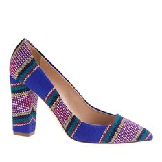 J.Crew - Collection Ava summer stripe pumps Just bought these and I am SO 4984827e913