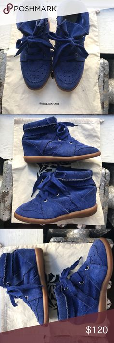 43fb9cdbe3e Isabel Marant Bobby Suede Sneaker Wedges Isabel Marant Bobby Sneaker with  hidden wedge