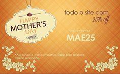 Antecipe suas compras para o dia das mães com a super venda #mothersdaydiorsi ... Tudo com 25% off... Para isso use o cupom MAE25  Para comprar, acesse:  www.diorsidecor.com.br WhatsApp (12) 9 9715 2022