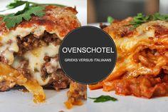 Moussaka VS Lasagne. Twee verrukkelijke recepten. Wat is jou favoriet? Wij gaan toch voor de lasagna, maar de moussaka doet er niet veel voor onder!