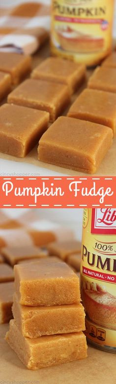Pumpkin Fudge - super tasty sweet treat during the fall and holiday season. You will find it smooth and creamy with amazing pumpkin spice flavors.