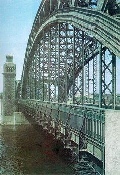 St Petersburg, Russia: Bolsheokhtinsky bridge across the Neva River, built in 1909 – 1911, cultural heritage object.