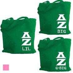 Delta Zeta Tote . Big Lil or G-Big . WGL