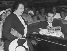 Hitler's Loathsome Nephew    Brigid Hitler, the wife of Adolf Hitler's stepbrother Alois, says goodbye to her son William Patrick Hitler outside the Astor Hotel in New York City.    http://www.nydailynews.com/news/world/new-letter-shows-hitler-nephew-begged-join-u-s-military-fight-nazis-article-1.1127271