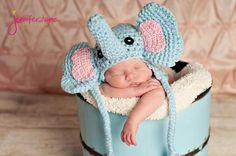 Elephant Hat Crochet Pattern | FaveCrafts.com ~ easy skill ~ how adorable1 ~ FREE - CROCHET
