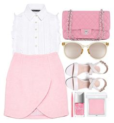 """""""Sweet Love"""" by smartbuyglasses-uk ❤ liked on Polyvore featuring Marissa Webb, Carven, Chanel, Quay, RMK, Christian Dior, Too Faced Cosmetics, white and Pink"""