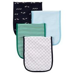 Just One You™ Made by Carter's® Baby Boys' 4-Piece Burp Cloth Set - Blue