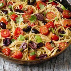 Quick Puttanesca- use spaghetti squash instead