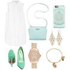 Untitled #34 by dias-elodieferreira on Polyvore featuring polyvore fashion style T By Alexander Wang Marc Fisher Roberto Coin Michael Kors Alex and Ani