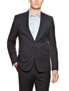 Wool Pinstripe Sportcoat by Wingtip Clothiers at Gilt
