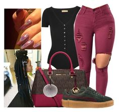 """""""Untitled #748"""" by sipping-gold ❤ liked on Polyvore featuring Michael Kors, MICHAEL Michael Kors, Puma and Helen Moore"""
