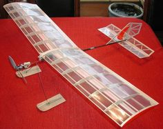 "The Light Stik B, 36"" wing span #balsa #electric #RC"