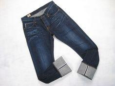 Big John made in Japan faux slub selvedge jeans size 33 x 34.