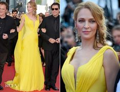Uma Thurman In Atelier Versace – 'Clouds Of Sils Maria' Cannes Film Festival Premiere