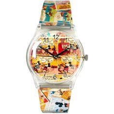 Disney Cartoon Strip Watch ($42) ❤ liked on Polyvore