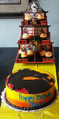 Mortal Kombat Cake and Cupcake Tower (from Oriental Trading)