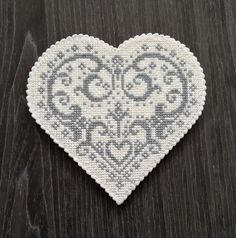 Winter Wedding, gray and white needlepoint lace cookie by Sweet Prodigy