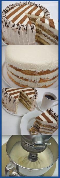 """Tiramisu Super fácil """"Esta es estupenda!  #tiramisu #queso #cafe #facil #comohacer  #cake #pan #panfrances #panettone #panes #pantone #pan #recetas #recipe #casero #torta #tartas #pastel #nestlecocina #bizcocho #bizcochuelo #tasty #cocina #chocolate   Si te gusta dinos HOLA y dale a Me Gusta MIREN..."""