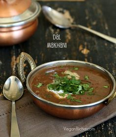 Vegan Dal Makhani - Black Gram and Kidney Beans in Creamy Buttery Gravy. gluten-free, Soy-free Indian Recipe. Vegan Indian Recipes, Vegetarian Recipes, Ethnic Recipes, Lentil Recipes, Vegan Soups, Vegan Dishes, Curry Recipes, Instant Pot, Whole Food Recipes