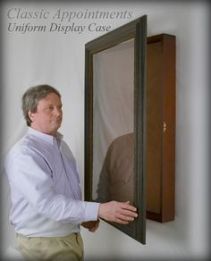 Display your Uniform in this large size Military Shadow Box Display Case that is uniquely suited for fully size display. Shadow Box Display Case, Diy Shadow Box, Display Boxes, Marines Uniform, Military Uniforms, Military Housing Decorating, Military Shadow Box, In Memory Of Dad, Bottle Display